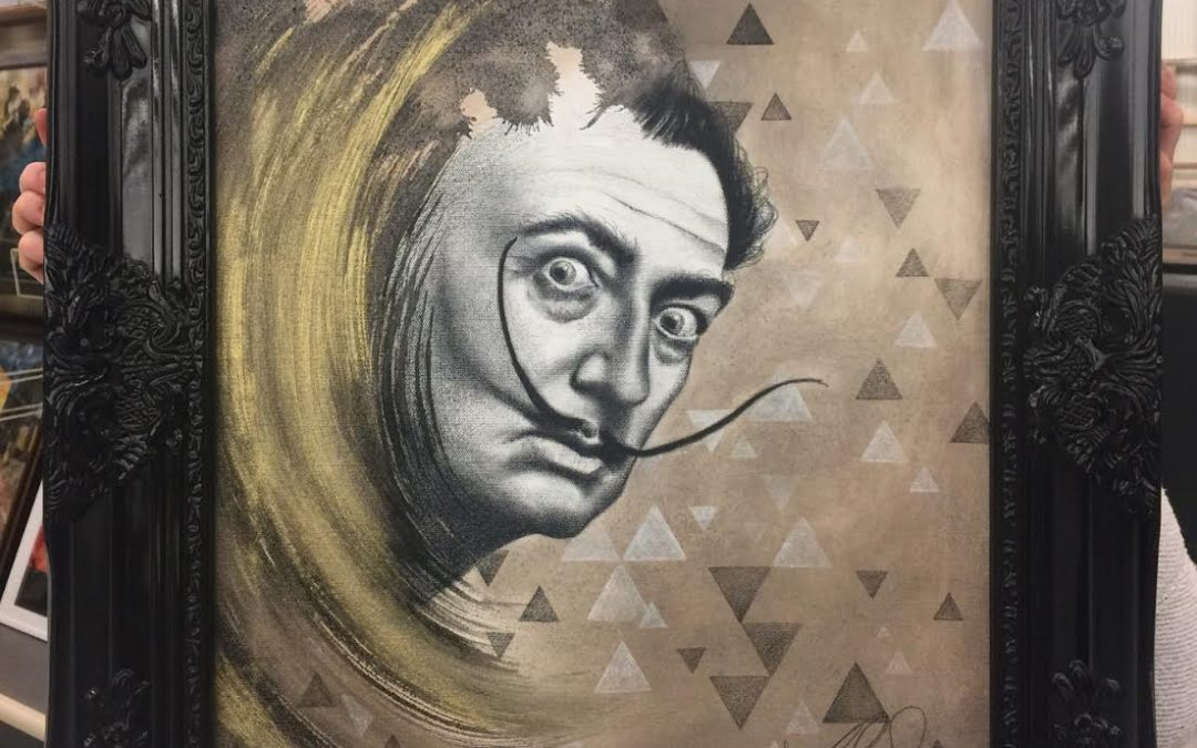 SALVADOR DALI COMMISSION FINISHED AND FRAMED