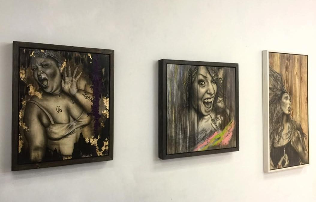 PRACTICE HANGING FOR  SOLO EXHIBITION @ BATTERY 621